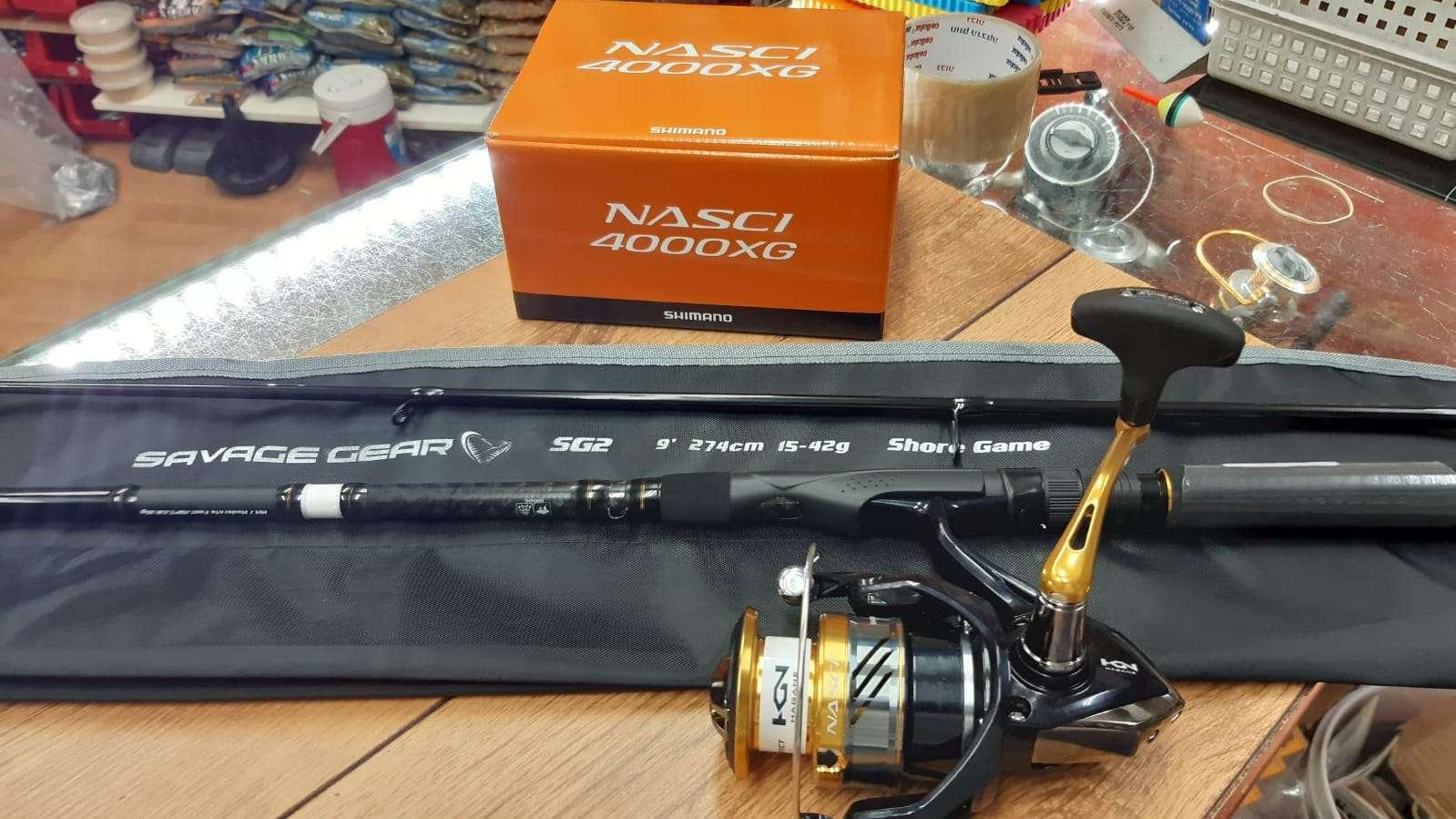 SAVAGE GEAR GS2 15-42 + SHIMANO NASCI 4000
